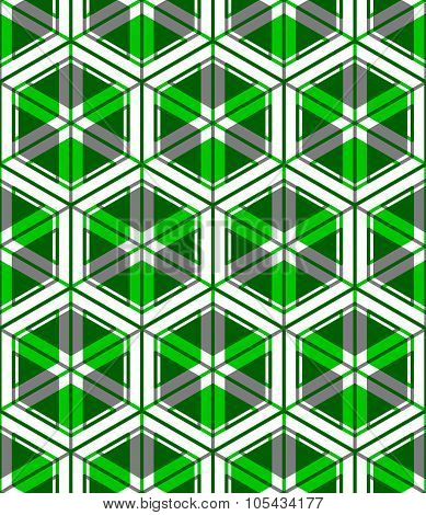 Geometric Seamless Pattern, Endless greenTransparent Vector Regular Background