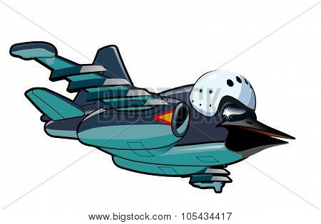 Cartoon Jetbird 2
