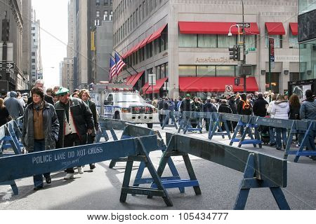 Saint Patricks Day Parade Poce Barricades