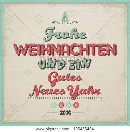 Frohe Weihnachten/ Merry Christmas Poster
