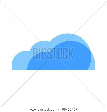 Cloudy Weather Icon. Blue transparent clouds.