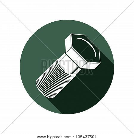 Repair Idea Vector Design Element, 3D Bolt, Highly Detailed Illustration Of Screw. Building And Manu