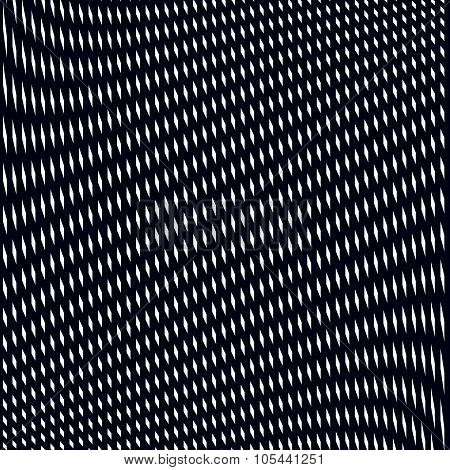 Optical Illusion, Moire Background, Abstract Lined Monochrome Tiling. Unusual Vector Geometric Patte