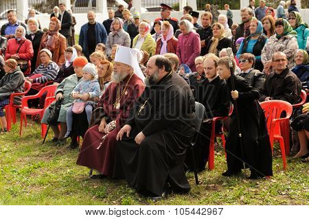 Orel, Russia - September 13, 2015: Orthodox Church Family Day. Russian Orthodox Church Archbishops A