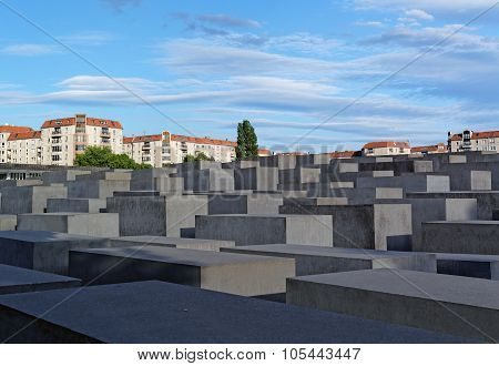 Berlin, Germany - may 31, 2015: Holocaust Memorial (Monument to the Murdered Jews in Europe)