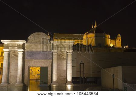 Cathedral And Arch Of Triumph. Cordoba, Spain