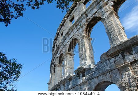 The Colosseum In Pula
