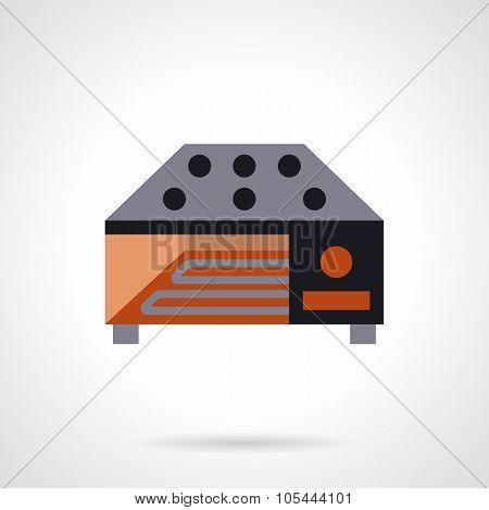 Industrial food dryer flat vector icon