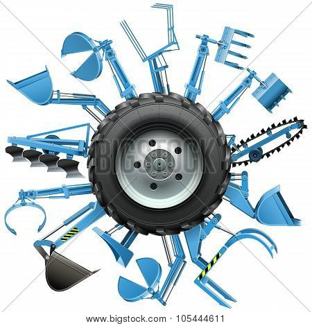 Vector Multi Tractor Wheel