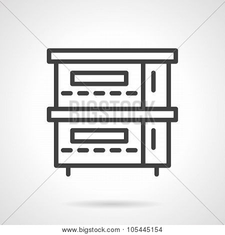 Restaurant stove simple line vector icon
