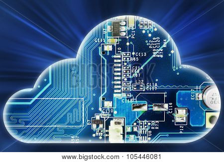 Security concept with cloud in electronic circuit