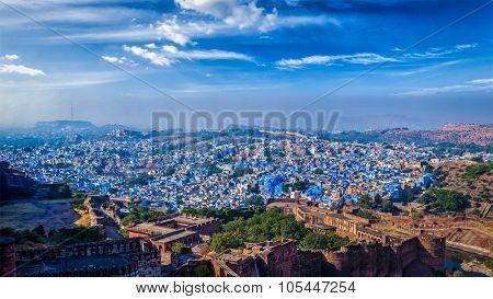 Panorama of Jodhpur, also known as