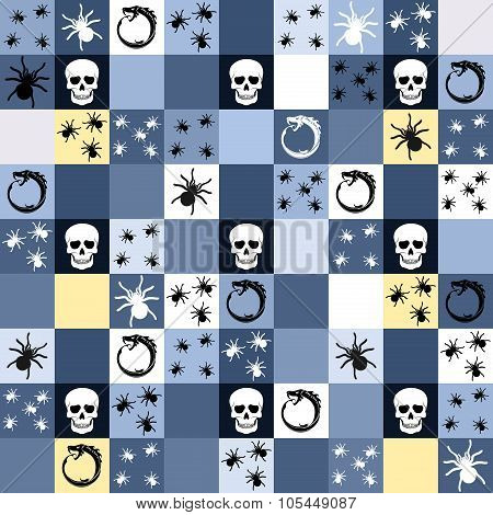 Halloween Themed Seamless Background Or Pattern