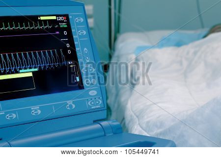 Patient On The Heart Monitor