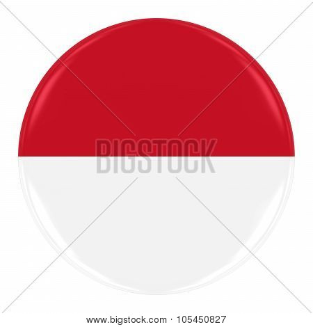 Monegasque / Indonesian Flag Badge - Flag Of Monaco / Indonesia Button Isolated On White