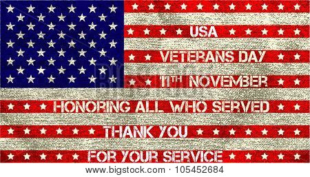 veterans day flag