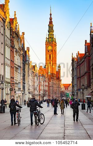 Town Hall In Gdansk, Poland