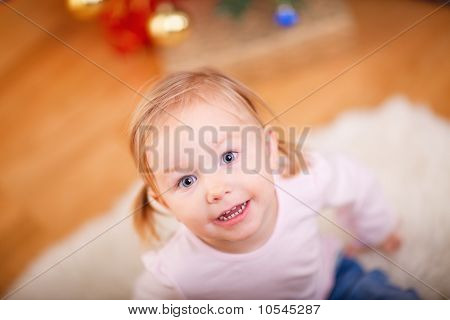 Portrait Of Adorable Playful Girl