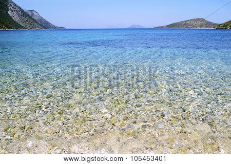 Pisaetos beach in Ithaca Greece