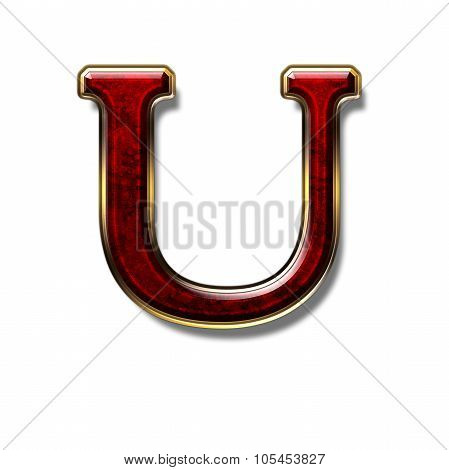 Letter U - Precious Stone Is Red