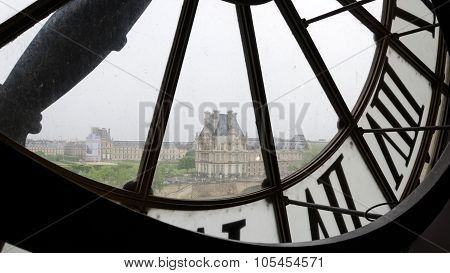 Paris, France - May 14, 2015: Large Clocks With Roman Numerals In Museum D'orsay