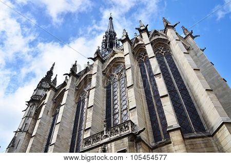 Exterior Of Sainte-chapelle (the Holy Chapel) In Paris