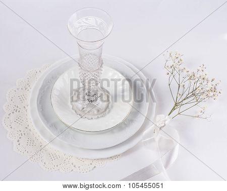 utensils for celebration white on white