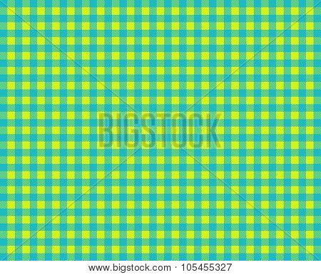 Retro Tablecloth Green Blue