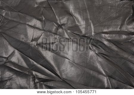 Black Nylon Fabric Background
