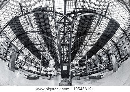 Train Station Estacio de Franca in Barcelona.