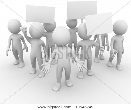 Crowd manifesting