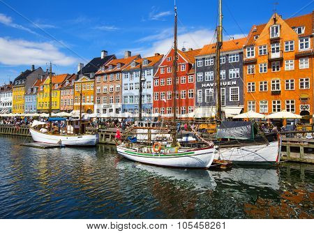 Nyhavn district is one of the most famous landmark in Copenhagen.