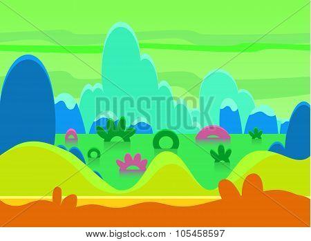 Game Background Vector Illustration Set