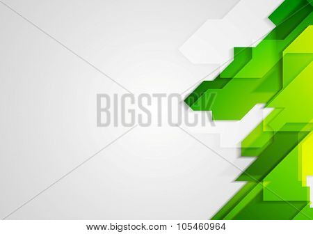 Abstract green hi-tech bright background