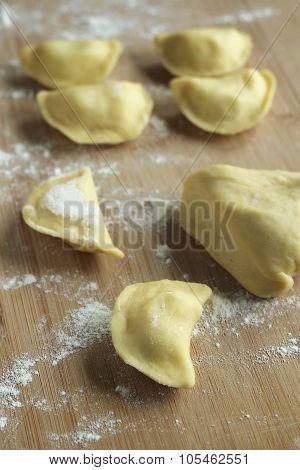 preparing dumplings