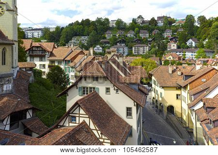 Aerial View Of The City Of Bern