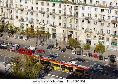 Aerial View To Marszalkowska Street, Warsaw
