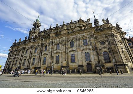 Cathedral Of The Holy Trinity In Dresden