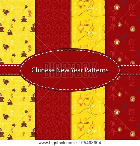 seamless pattern Collection for Chinese New Year