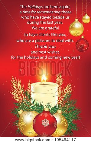 Thank You red business greeting card