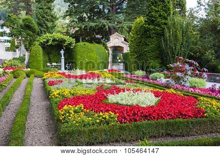 The Magnificent Garden Of The Castle Of Oberhofen