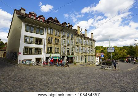 Townhouses Of The Old Town In Bern
