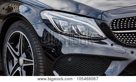 Kiev, Ukraine - OCTOBER 10, 2015: Mercedes Benz star experience. The series of test drives.