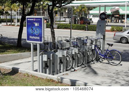 Broward B-cycle Station In The Morning