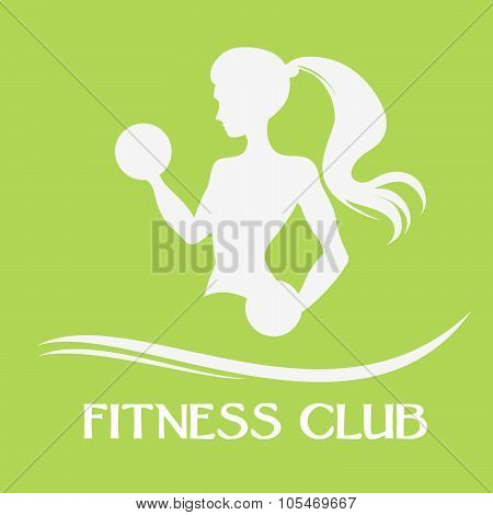 A Slender Woman With Dumbbells