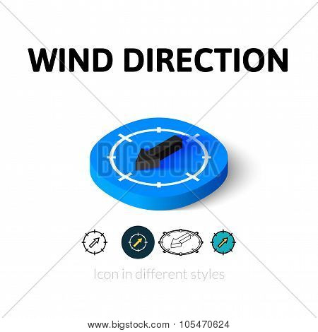 Wind direction icon in different style