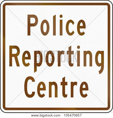 Police Reporting Centre In Canada