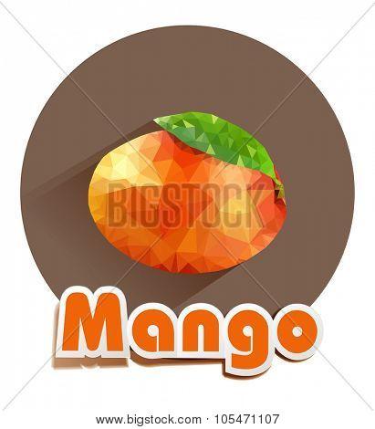 vector icon of mango triangles