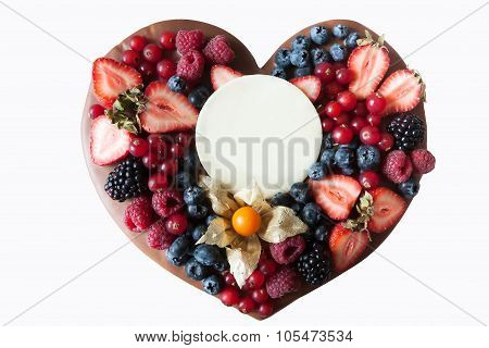 Heart for valentines day isolated on white background
