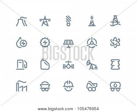 Industry and power generations icons. Line series